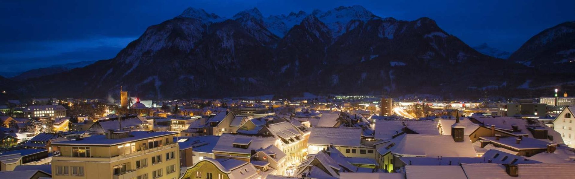 Alpenstadt Bludenz im Winter (c) Andreas Gaßner Fotografie - Bludenz Stadtmarketing GmbH