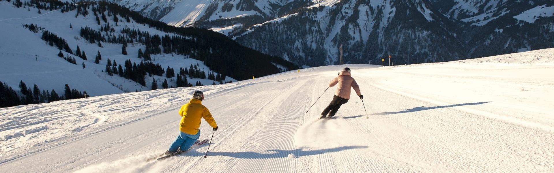 Skifahren am Diedamskopf (c) Alex Kaiser - Diedamskopf Alpin Tourismus GmbH _ Co KG